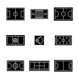Set of icons playgrounds , vector illustration.