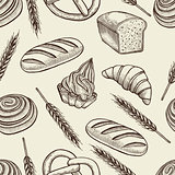 Seamless pattern with baking elements.