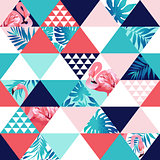 Exotic beach trendy seamless pattern