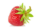 Ripe organic strawberry