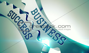 Business Success - Mechanism of Metallic Cogwheels. 3D.