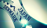 Japan Denmark - Mechanism of Metal Cog Gears . 3D .