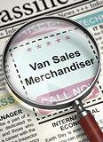 Job Opening Van Sales Merchandiser. 3D.