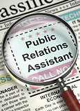 Public Relations Assistant Wanted. 3D.