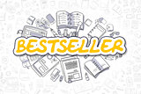 Bestseller - Cartoon Yellow Inscription. Business Concept.