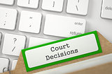 Folder Index with Inscription Court Decisions. 3D.