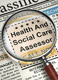 Health And Social Care Assessor Hiring Now. 3D.