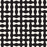 Seamless geometric lattice pattern. Irregular abstract grid background. Stylish vector texture