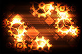 Vector abstract background technology gears concept.