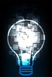 Vector technology digital light bulb.