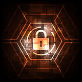 Vector abstract background technology security concept.