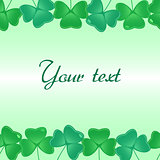 Seamless pattern with shamrock leaves for footer and banner