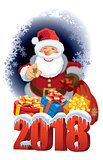 Santa Claus with New Year 2018