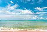 Stunning tropical view of the clouds and the sea in good sunny w