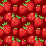 Strawberry seamless pattern. Berry endless background, texture. Fruits background. Vector illustration.