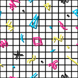 Retro memphis pattern - seamless background. Fashion 80-90s.