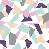 Delicate seamless mosaic pattern. Mosaic shapes.