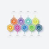 Vector illustration infographics nine options