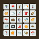 Autumn color icon set on a dark background