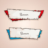 Old banners vector collection.