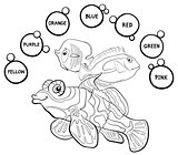 basic colors educational coloring page