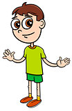 elementary age boy cartoon illustration