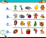 first letter of a word activity game
