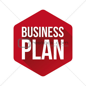 Business plan sign red button