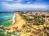 Algarve, Portugal: aerial UAV photo of the coast