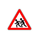 Children road sign