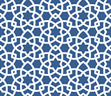 Arabic ornamental background - seamless Persian style pattern