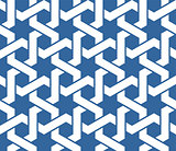 Seamless blue arabic ornament with twined lines pattern