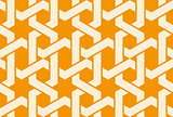 Seamless arabic ornament with entangled pattern