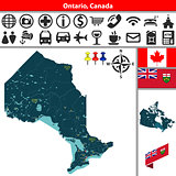 Ontario with cities, Canada