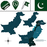 Map of Pakistan with Administrative Units