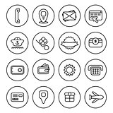 Outline Commercial icon set