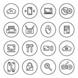 outline IT icon set