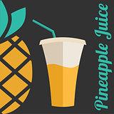 Pineapple juice banner or menu