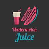 Watermelon juice banner or menu