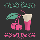Cherry juice banner or menu