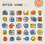 Office bold linear icons