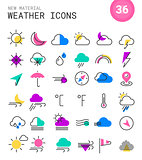 Weather line thin icons