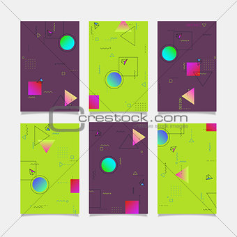 Abstract vector geometric design banners templates