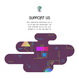 Banner Template with Donation and Support Us icon and text
