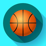Vector Basketball flat icon sport illustration