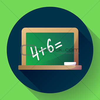 Blackboard Icon. Welcome back to school theme flat icon