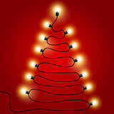 Christmas Lights shaped as Christmas tree - festive lights garla