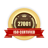 ISO 27001 certified medal - Information security management