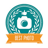 Best photo badge - rating medal for photoservice