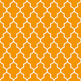 Figured window grating with arabian ornament, seamless pattern